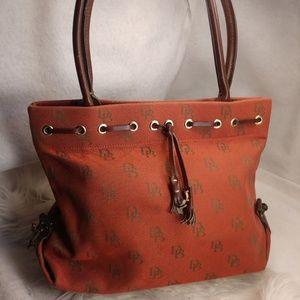 Authentic red Dooney & Bourke purse handbag